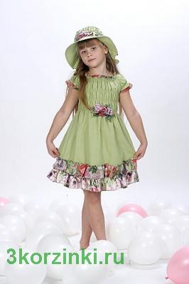 Платье Жизель, фисташка