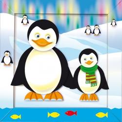 Набор для создания картины «Пингвины»