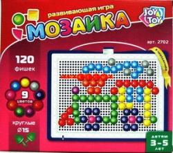 Мозаика, 120 элементов, круглые фишки
